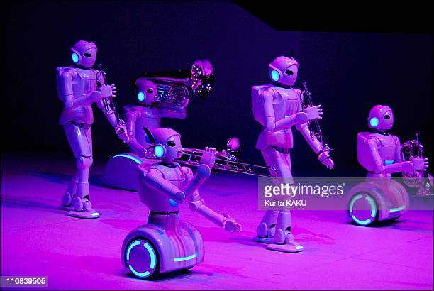 Opening Ceremony For The Toyota Group Pavilion At The 2005 World Exposition In Nagoya Aichi Japan On March 10 2005 Toyota Motor's robots perform...