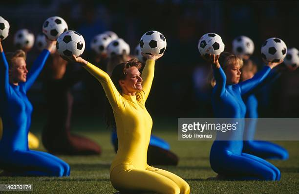 Opening ceremony held during the UEFA European Championships 1992 Group 1 match between Sweden and France held at the Rasunda Stadium on June 10 1992...