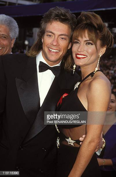 Opening ceremony in Cannes France on May 13 1993 Jean Claude Van Damme friend Darcy