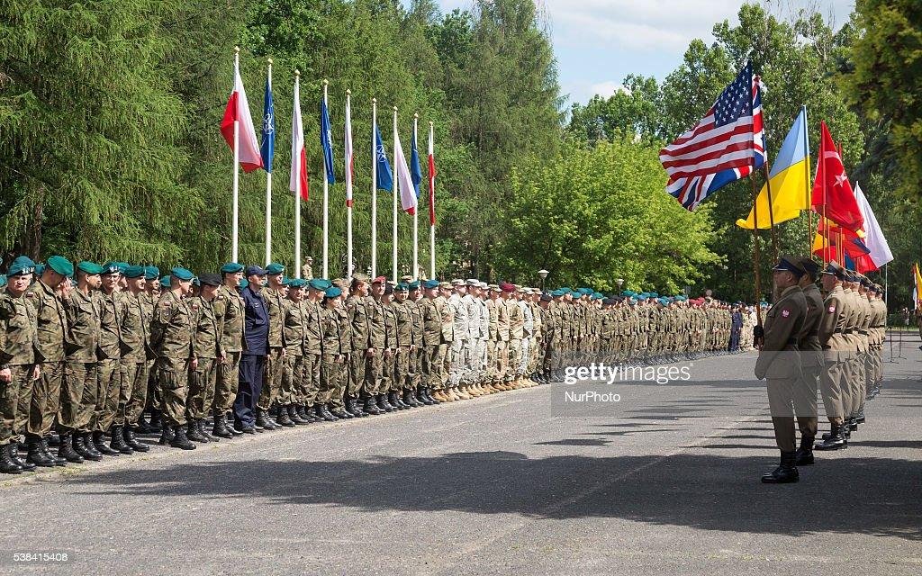 Opening ceremony of NATO military exercise Anakonda-16 : News Photo