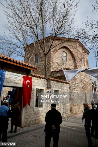 Opening ceremony of restored Seyh Suleyman Mosque is held in Istanbul, Turkey on February 22, 2017. Seyh Suleyman Mosque is restored by Turkish...