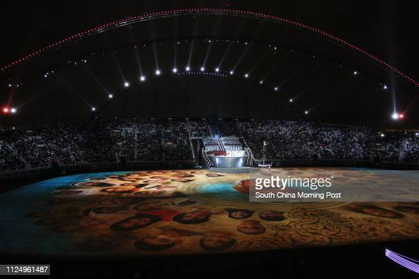 Opening ceremony of the 15th Asian Games at Khalifa Stadium in Doha, 01 December 2006.