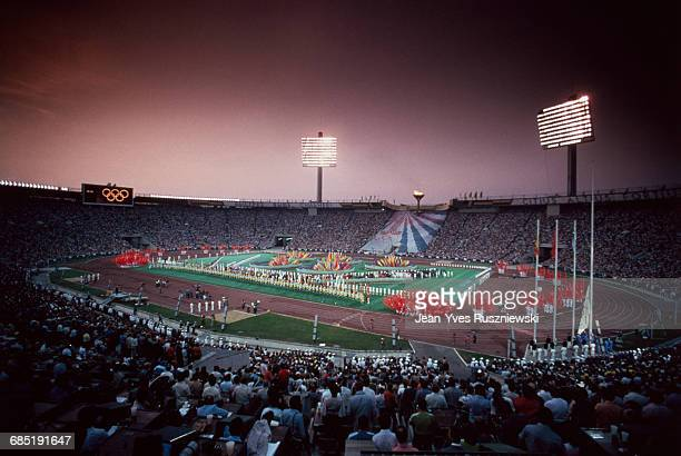 Opening ceremony of the 1980 Summer Olympic Games in Moscow.