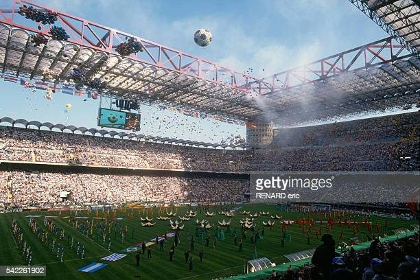 Opening Ceremony of the 1990 FIFA World Cup in Stadio Giuseppe Meazza