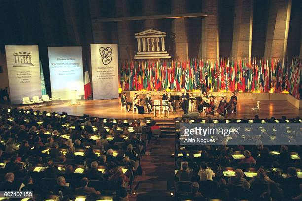 Opening ceremony of the 50th anniversary of the Universal Declaration of Human Rights.