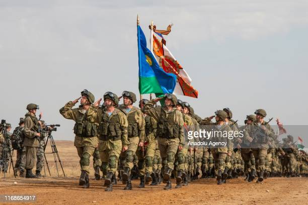 Opening ceremony of the Center-2019 military exercise is held in the southern Orenburg region with the participation of military chiefs from China,...