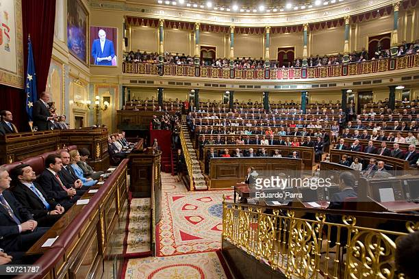 Opening ceremony of the new legislature at parliament at the Congress of Deputies April 16 2008 in Madrid Spain