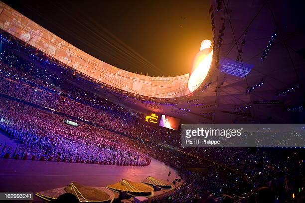 Opening Ceremony Of The Olympic Games Beijing 2008 Cérémonie d'ouverture des JO de Pékin 2008 au stade national de Pékin le 'Nid d'oiseau' mise en...