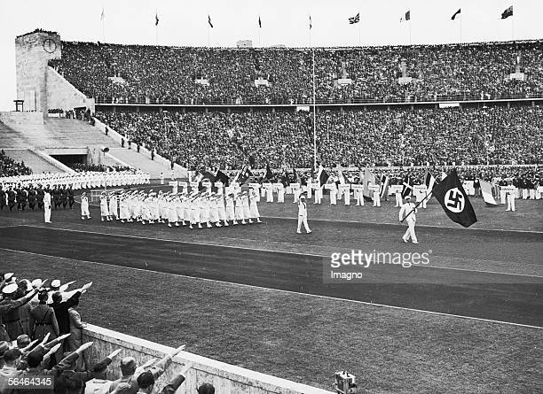 Opening Ceremony of the Olympic Games in Berlin Photography Germany 1936 [Einzug der deutschen Mannschaft bei der Eroeffnung der XI Olympischen...