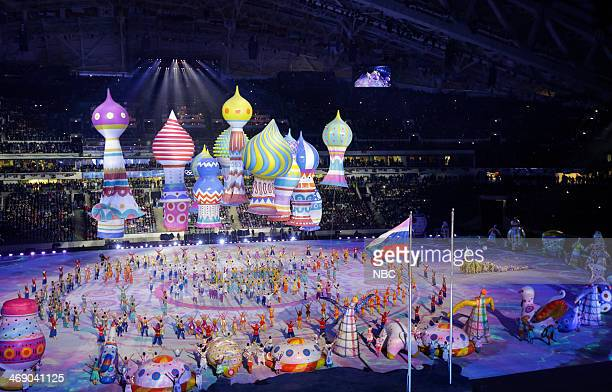GAMES Opening Ceremony Pictured Opening ceremony of the 2014 Sochi Winter Olympics Games in Sochi Russia on February 7 2014