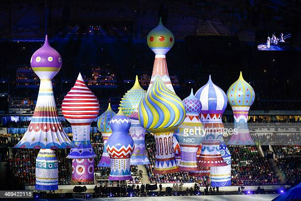 GAMES 'Opening Ceremony' Pictured Opening ceremony of the XXII Olympic Winter Games in Sochi Russia on February 7 2014