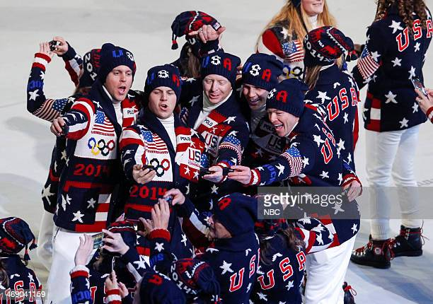 GAMES Opening Ceremony Pictured Team USA during the opening ceremony of the 2014 Sochi Winter Olympics Games in Sochi Russia on February 7 2014