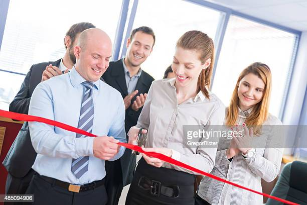 opening ceremony with ribbon cutting - opening ceremony stock pictures, royalty-free photos & images