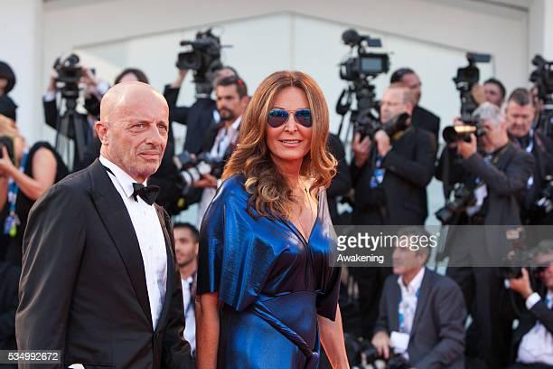 Opening cerimony and 'Birdman' premiere at the 71st Venice Cinema Festival in the photo Daniela Santanche and Alessandro Sallusti