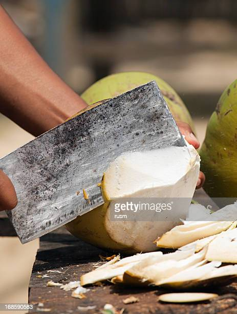 Opening coconut
