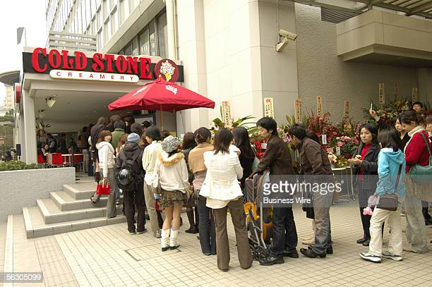 Opening day at Cold Stone Creamery's first store in Tokyo was marked by a continuous twoandahalf hour line that formed six hours before the ribbon...