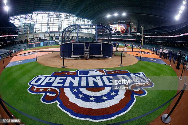 Opening day between the Kansas City Royals and Houston Astros at Minute Maid Park on April 11 2016 in Houston Texas
