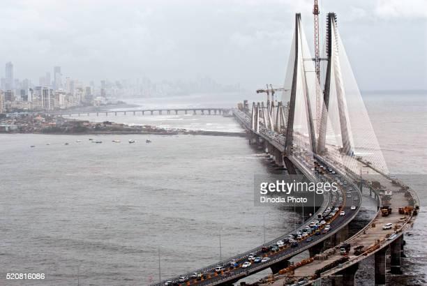 Opening day of bandra worli known rajiv gandhi sea link, Bombay Mumbai, Maharashtra, India