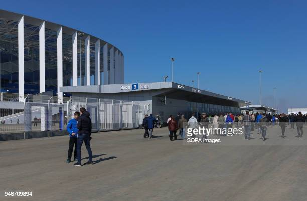 Opening day of the Nizhny Novgorod stadium for FIFA World Cup 2018