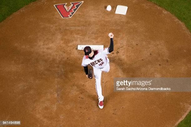 Opening Day starting pitcher Patrick Corbin of the Arizona Diamondbacks delivers a pitch during a game against the Colorado Rockies at Chase Field on...