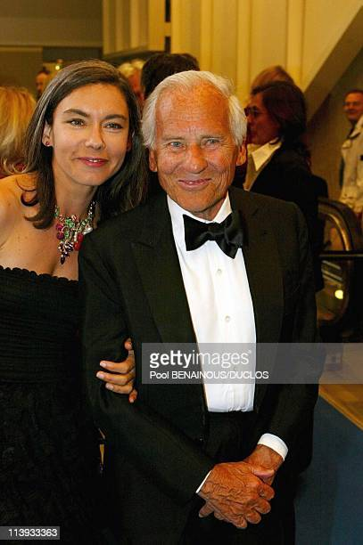 Opening dinner of the 55th Cannes film festival In Cannes France On May 15 2002Isabelle Quin and Jean d'Ormesson