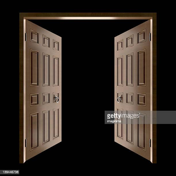 Opening Doors (Isolated with Clipping Path)