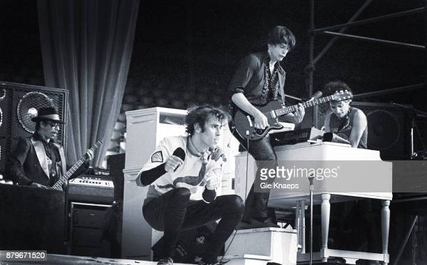 Opening for The Rolling Stones Peter Wolf John Geils Danny Klein The J Geils Band performing on stage Feyenoord Stadion Rotterdam Netherlands 5th...
