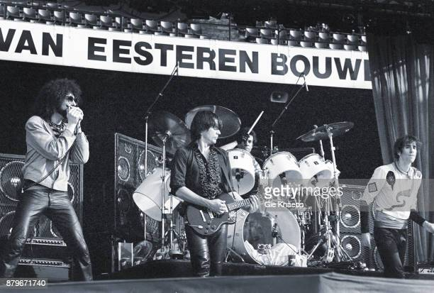 Opening for The Rolling Stones Peter Wolf John Geils Magic Dick Stephen Jo Bladd The J Geils Band performing on stage Feyenoord Stadion Rotterdam...