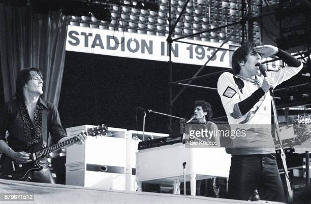 Opening for The Rolling Stones Peter Wolf John Geils Seth Justman The J Geils Band performing on stage Feyenoord Stadion Rotterdam Netherlands 5th...