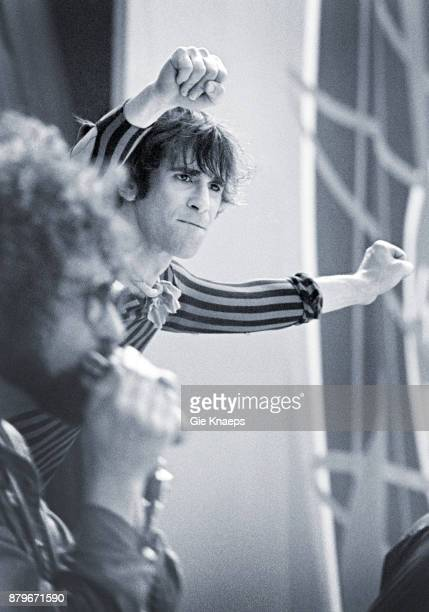 Opening for The Rolling Stones Peter Wolf Magic Dick The J Geils Band performing on stage Feyenoord Stadion Rotterdam Netherlands 5th June 1982