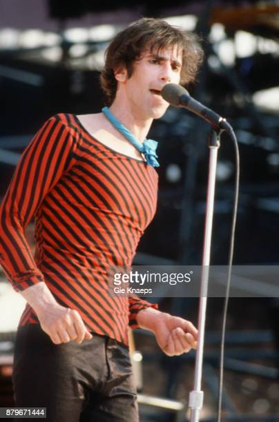 Opening for The Rolling Stones Peter Wolf The J Geils Band performing on stage Feyenoord Stadion Rotterdam Netherlands 5th June 1982