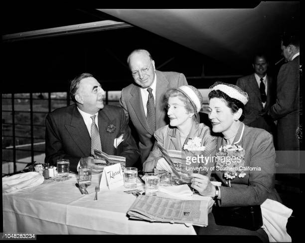 Opening Hollywood Park 13 May 1952 William DoughertyMrs Jack Wrather Jack WratherMr and Mrs AT JerginsThomas W SimmonsGeorge Barraclough Mr and Mrs...