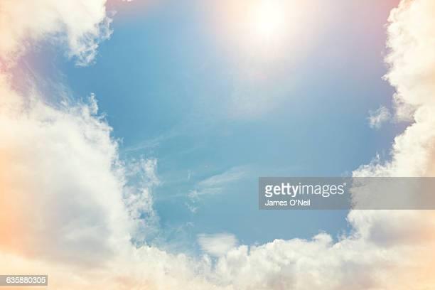 opening in clouds - sonne stock-fotos und bilder