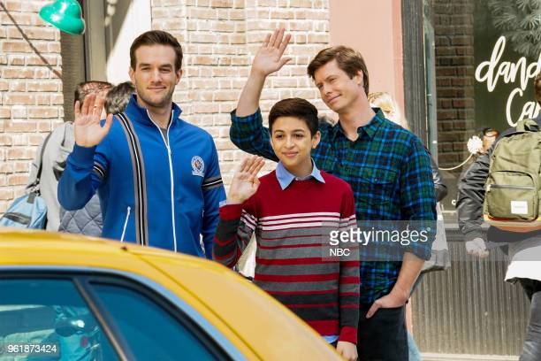 CHAMPIONS 'Opening Night' Episode 109 Pictured Andy Favreau as Matthew JJ Totah as Michael Anders Holm as Vince