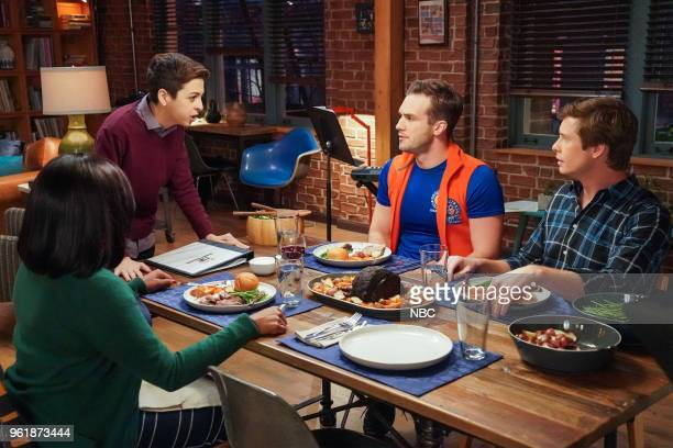 CHAMPIONS 'Opening Night' Episode 109 Pictured Mindy Kaling as Priya JJ Totah as Michael Andy Favreau as Matthew Anders Holm as Vince