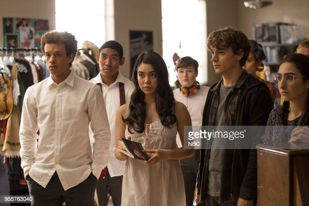 RISE Opening Night Episode 110 Pictured Damon J Gillespie as Robbie Thorne Sergio King as Clark Auli'i Cravalho as Lilette Suarez Elli Desautels as...