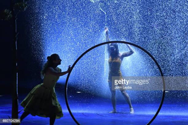 "Opening night of Cirque de Soliel's performance, ""Cyr Wheel & Trapeze"" in Denver, titled ""Luzia"" on June 1, 2017 in Denver, Colorado. Trapeze artist..."