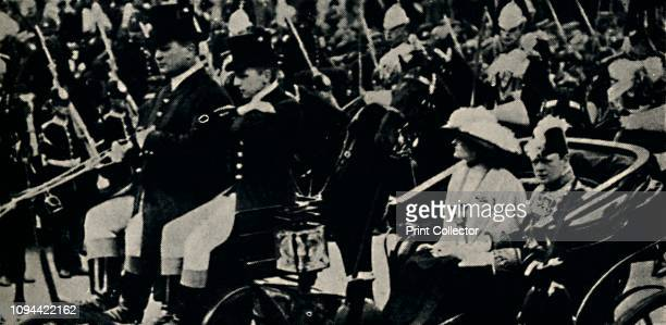 Opening of a New Reign', 22 June 1911, . British politician and statesman Sir Winston Churchill with his wife Clementine at the coronation of King...
