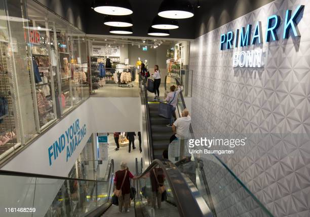 Opening of a Primark branch in Bonn Interior view with escalator sales room and visitors