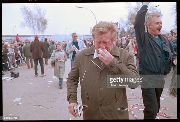Opening of Berlin Wall at Potsdammer Platz