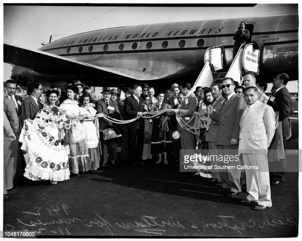 Opening of new Direct Airway between Los Angeles and Central and South America 28 November 1951 Mina Fancher Representing PanamaJeanette Ross...