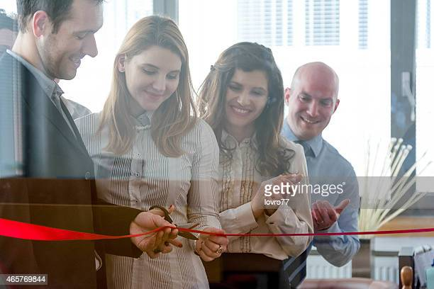 opening of new office space - opening event stock pictures, royalty-free photos & images