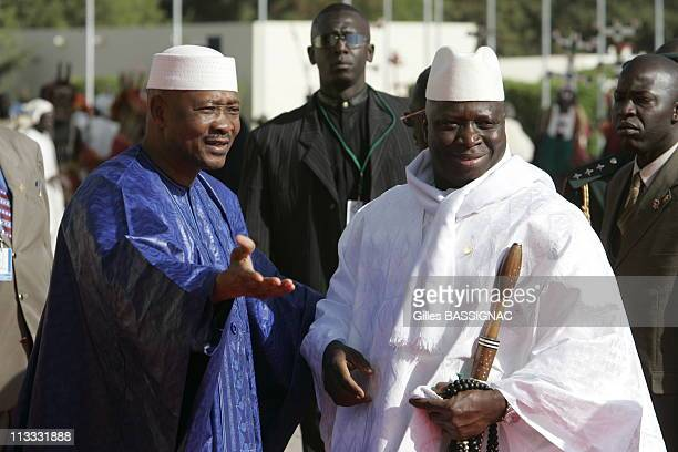 Opening Of The 23Rd AfricanFrench Summit On December 3Rd 2005 In Bamako Mali Here Yaya Jammeh President Of Gambie