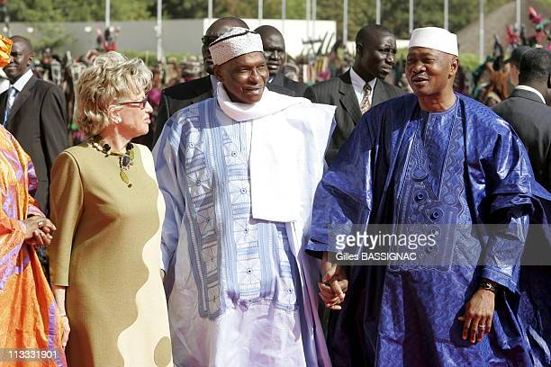 Opening Of The 23Rd AfricanFrench Summit On December 3Rd 2005 In Bamako Mali Here Amadou Toumani Toure Simone Wade And Abdoulaye Wade President Of...