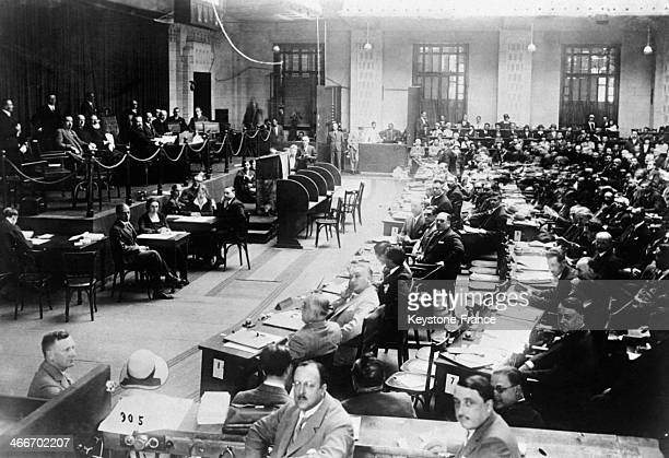 Opening of the 3 rd International Labour Conference in June 1929 in Geneva Switzerland