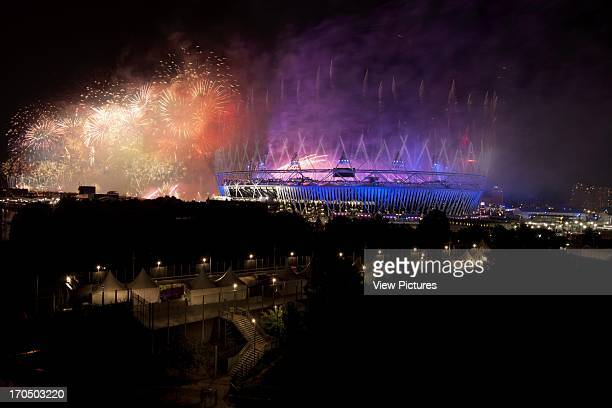 Opening of the 30th Olympiad in London taken from Wick Lane Wharf with the cooperation of Development Securities Olympic Stadium Stadium Europe...
