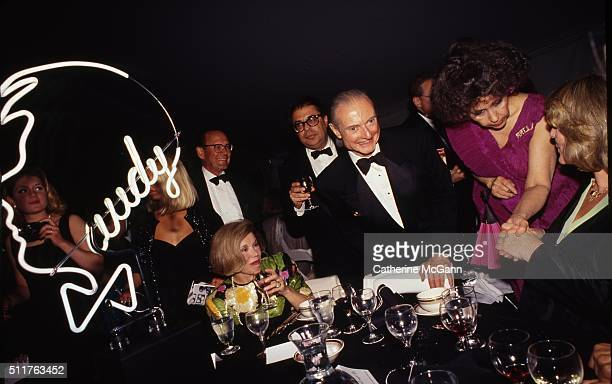 Opening of the Andy Warhol Museum in May 1994 in Pittsburgh PA Pictured LR Bob Colacello Roy Lichtenstein and Ultra Violet