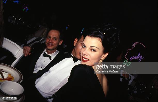 Opening of the Andy Warhol Museum in May 1994 in Pittsburgh PA Pictured LR John Waters Paul Reubens and Debi Mazar
