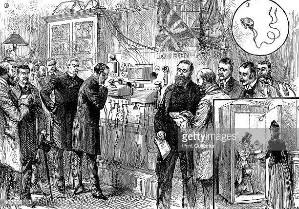 Opening of the AngloFrench telephone line 1891 The first London to Paris telephone conversation at the General Post Office London Bell instruments...