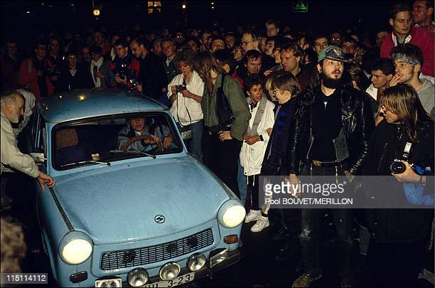 Opening of the border between East and West Germany in Berlin on November 09 1989